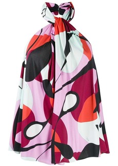 Emilio Pucci halterneck printed blouse