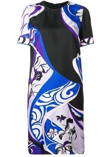 Emilio Pucci Hanami Print Silk Shift Dress