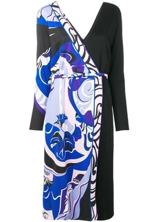 Emilio Pucci Hanami Print Wrap Dress