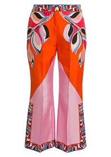 Emilio Pucci Heliconia-Print Silk Twill Trousers