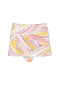 Emilio Pucci High Waist Printed Econyl Bikini Bottoms
