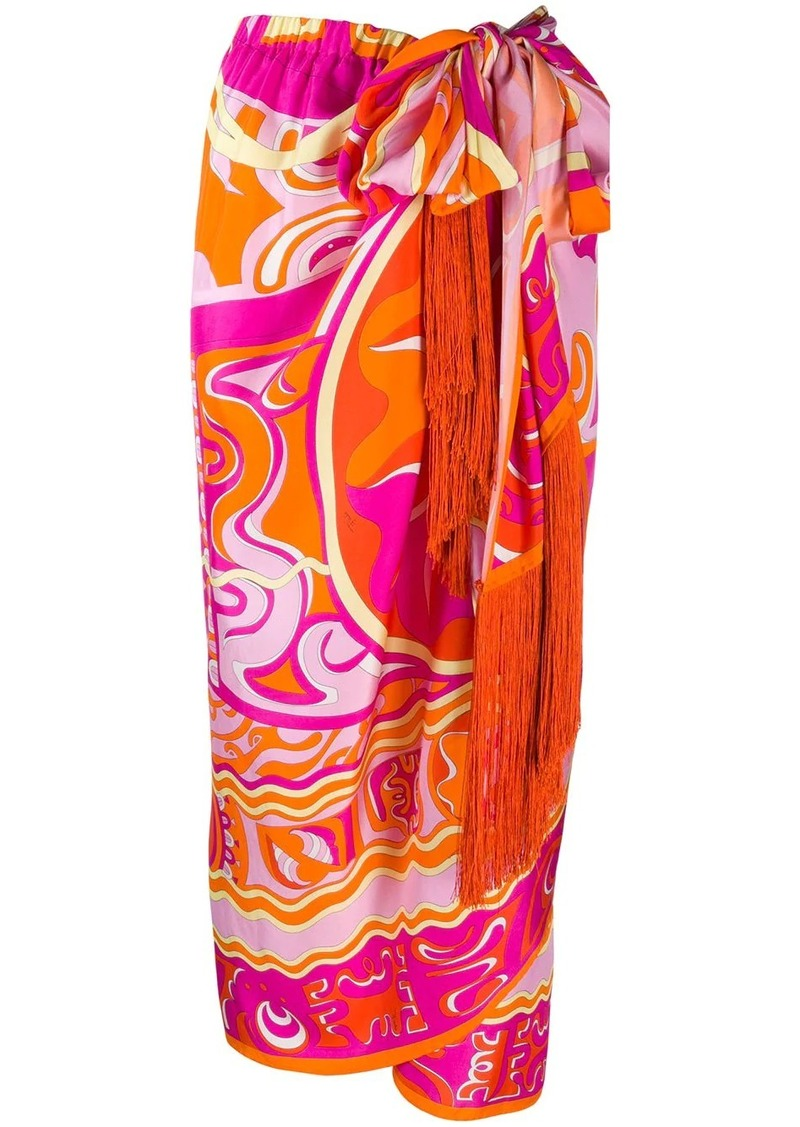 Emilio Pucci high-waist printed skirt