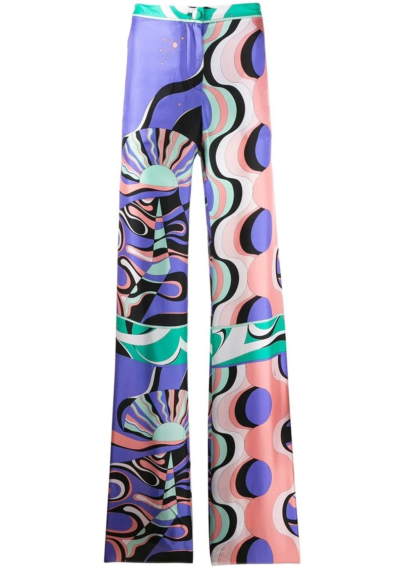 Emilio Pucci high-waisted geometric trousers