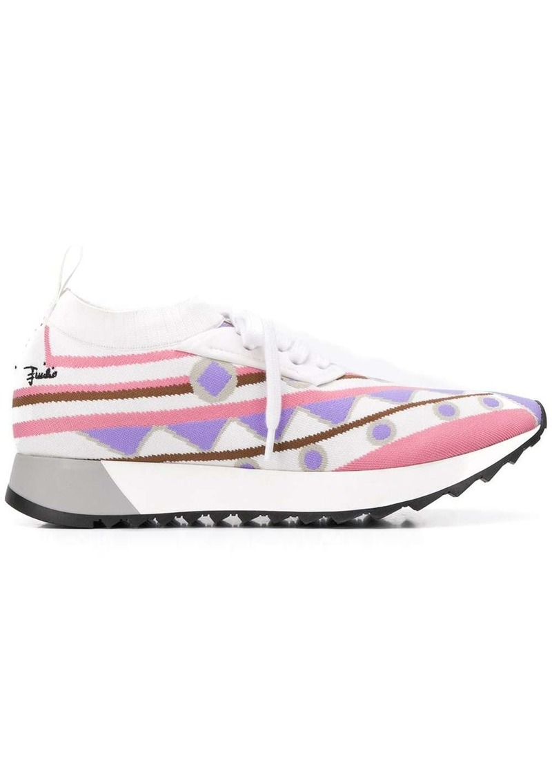 Emilio Pucci intarsia-knit low-top sneakers