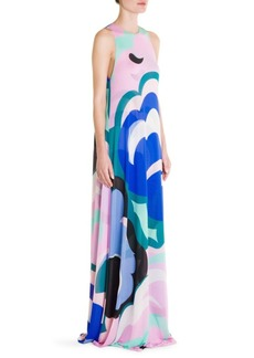 Emilio Pucci Jersey Cape Back Gown