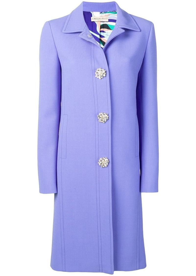 Emilio Pucci Jewelled Button Coat