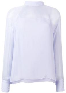 Emilio Pucci Lavender Tie-Neck Silk Blouse