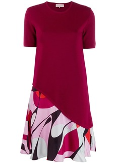Emilio Pucci layered effect short dress