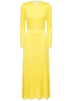 Emilio Pucci Light Jersey Long Dress W/ Cutout Back