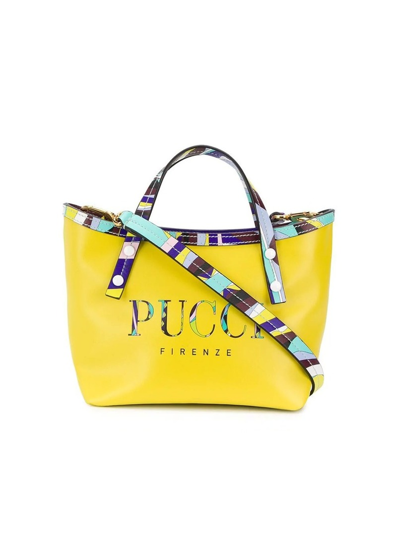 Emilio Pucci Lime Burle Print Mini Shoulder Bag
