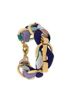 Emilio Pucci Logo Engraved Woven Chain Bracelet
