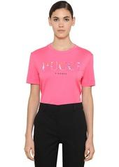 Emilio Pucci Logo Printed Cotton Jersey T-shirt