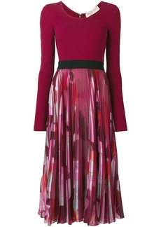 Emilio Pucci Long Sleeved Pleated Dress