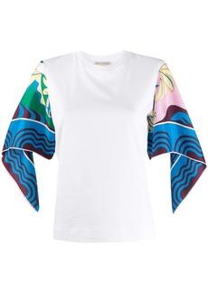 Emilio Pucci Manu-printed sleeves T-shirt