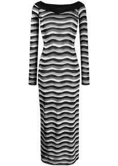 Emilio Pucci metallic striped dress
