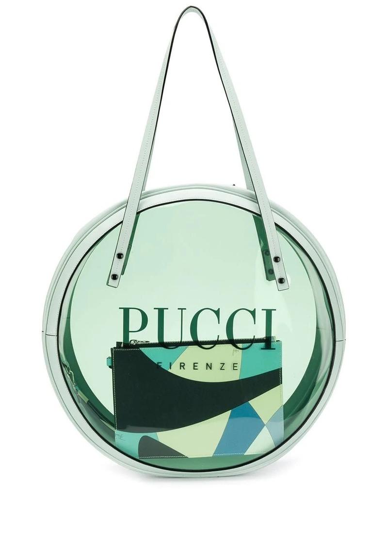 Emilio Pucci Mint Round Vinyl Tote
