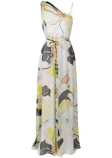 Emilio Pucci Mirabilis Print One-shoulder Silk Dress