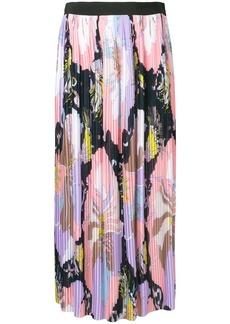 Emilio Pucci Mirabilis Print Plissé Pleated Skirt