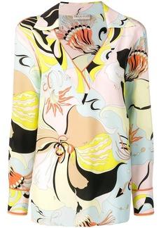Emilio Pucci Mirabilis Print Silk Top