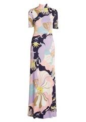 Emilio Pucci Mirabilus Jersey Maxi Dress