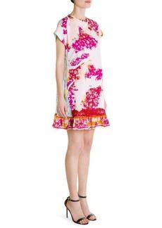 Emilio Pucci Mixed Media Print Mini Dress