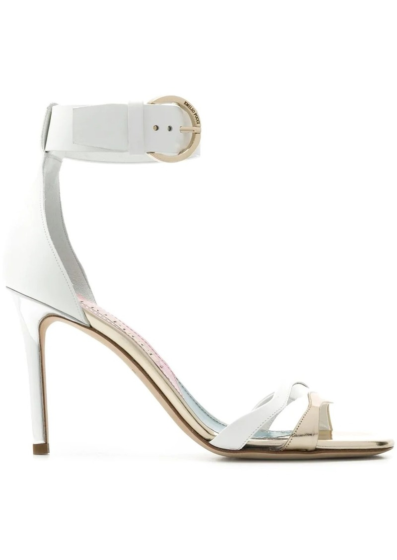 Emilio Pucci mixed-metal strappy sandals