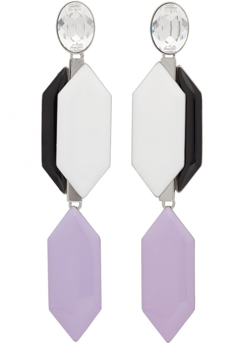 Emilio Pucci Multicolor Crystal Form Earrings