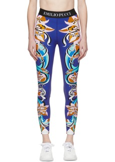 Emilio Pucci Multicolor Patterned Leggings