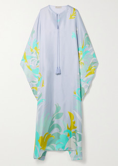 Emilio Pucci Net Sustain Printed Silk-satin Kaftan