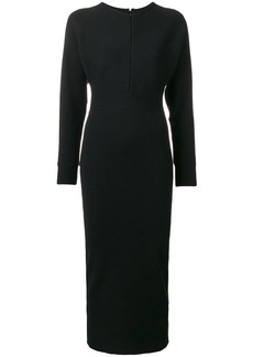 Emilio Pucci notch neck stretch fitted dress