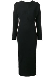 Emilio Pucci notch neck stretch fitted dress