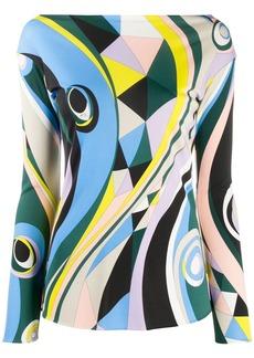 Emilio Pucci Occhi-print long-sleeve top