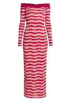Emilio Pucci Off-The-Shoulder Knit Dress