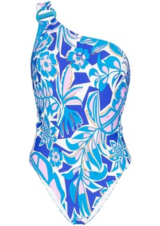 Emilio Pucci one-shoulder floral swimsuit