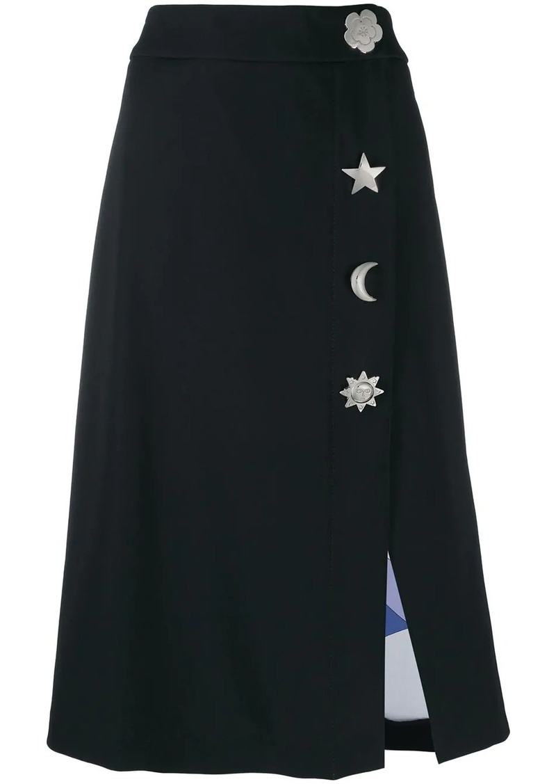 Emilio Pucci oversized button detailed skirt