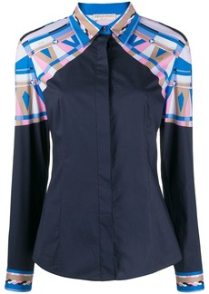 Emilio Pucci panelled fitted shirt