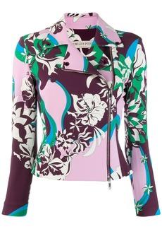 Emilio Pucci patterned moto jacket