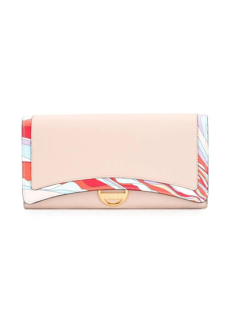 Emilio Pucci Pink Burle Print Wallet