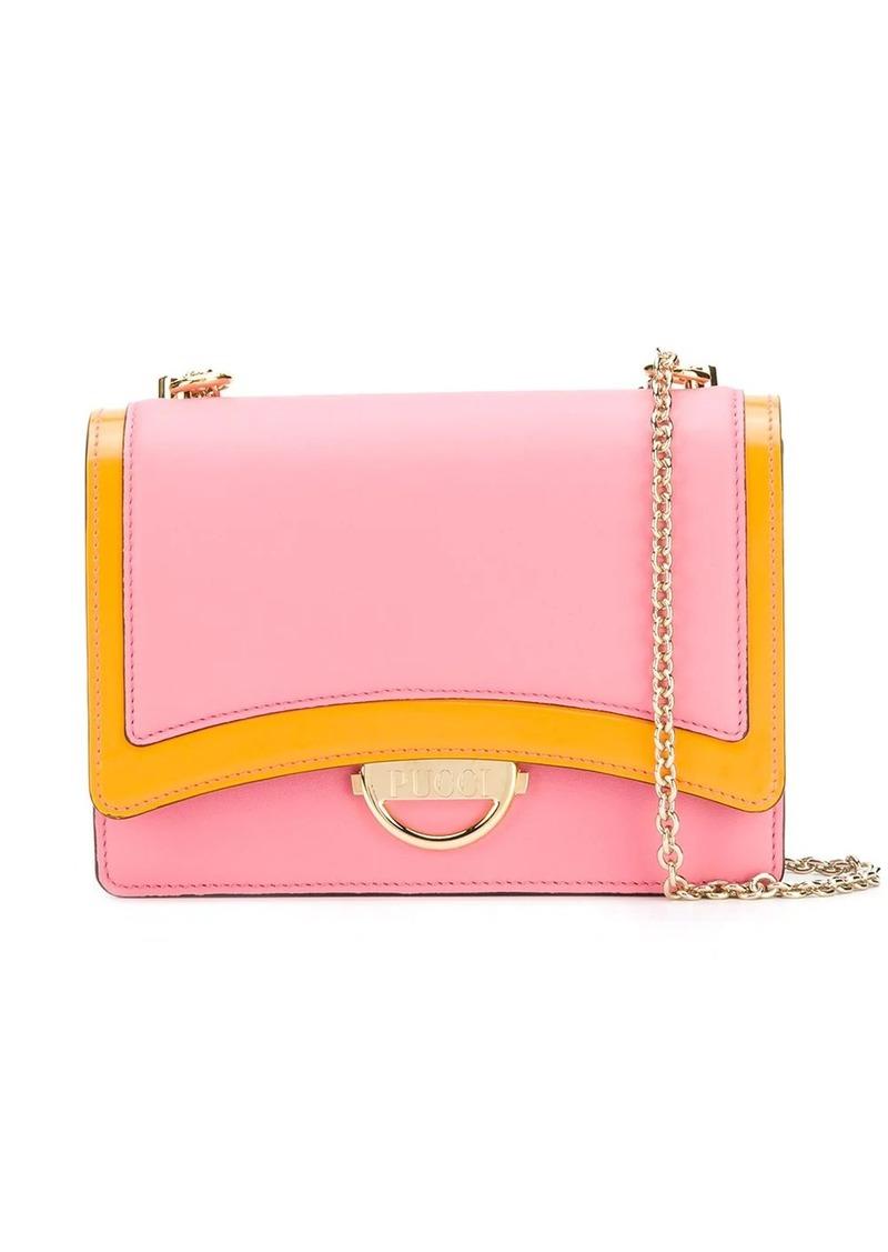Emilio Pucci Pink Colourblock Shoulder Bag