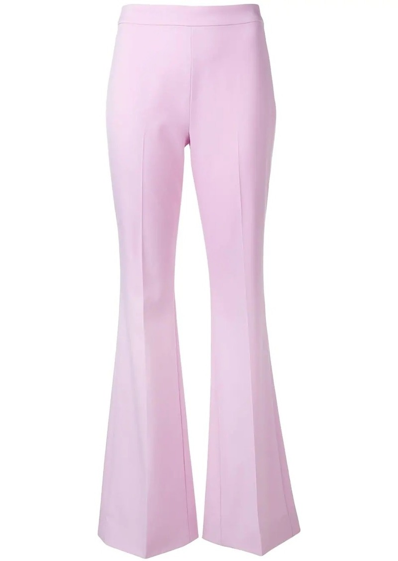Emilio Pucci Pink Flared Leg Wool Trousers