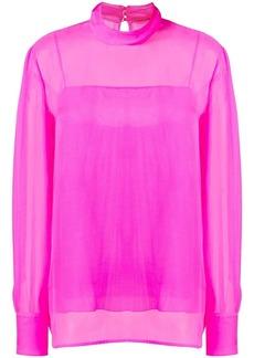 Emilio Pucci Pink High-Neck Silk Top