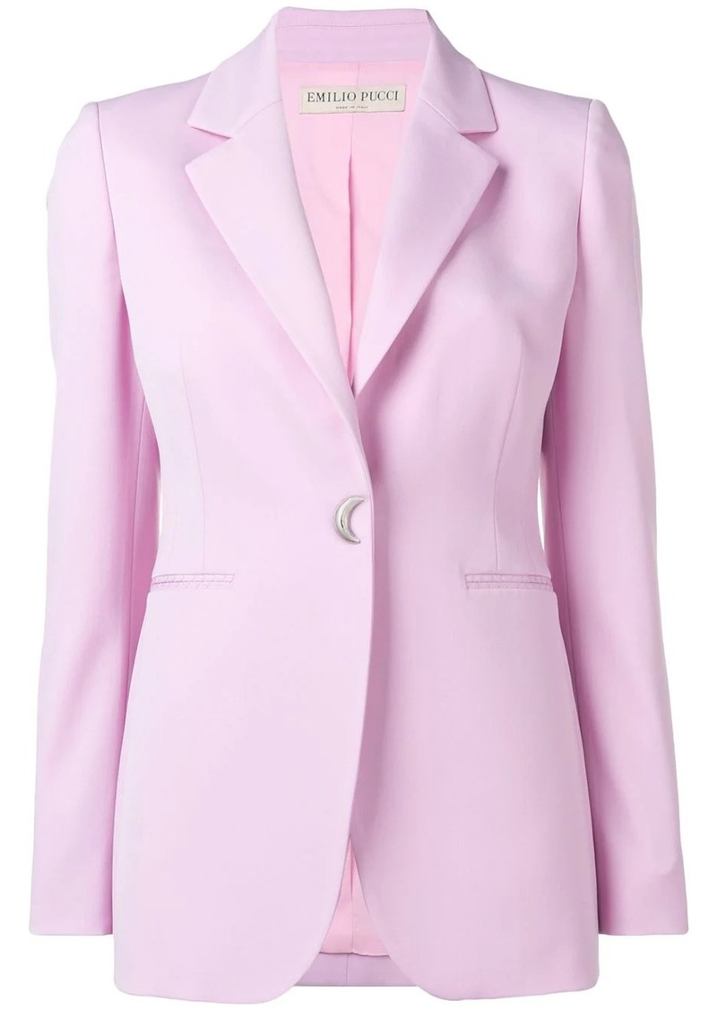 Emilio Pucci moon-shaped button blazer