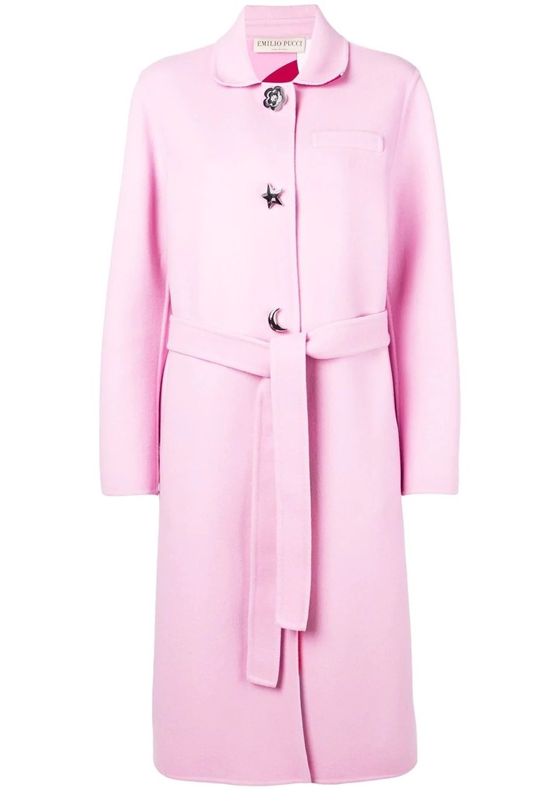 Emilio Pucci shaped button coat
