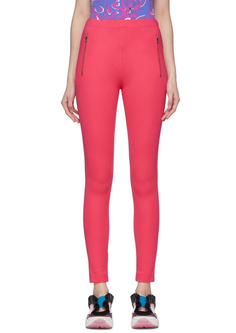 Emilio Pucci Pink Zip Detail Leggings