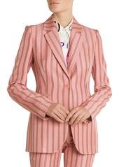 Emilio Pucci Pinstripe One-Button Blazer