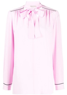 Emilio Pucci piped trims long sleeve blouse