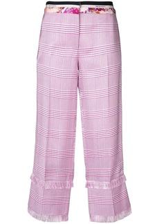 Emilio Pucci plaid cropped trousers