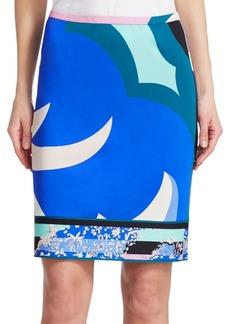 Emilio Pucci Print Jersey Pencil Skirt