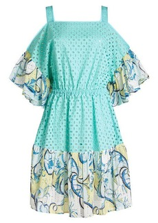Emilio Pucci Printed Cotton Dress with Cut-Out Detail