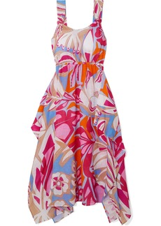 Emilio Pucci Printed Cotton-voile Midi Dress